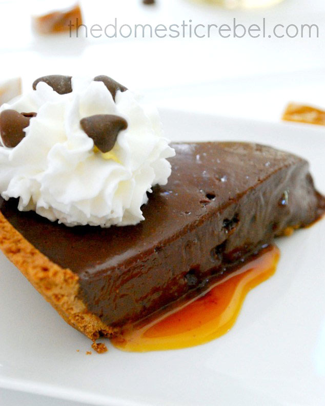 Gooey Chocolate Caramel Tart on Sweet2EatBaking.com