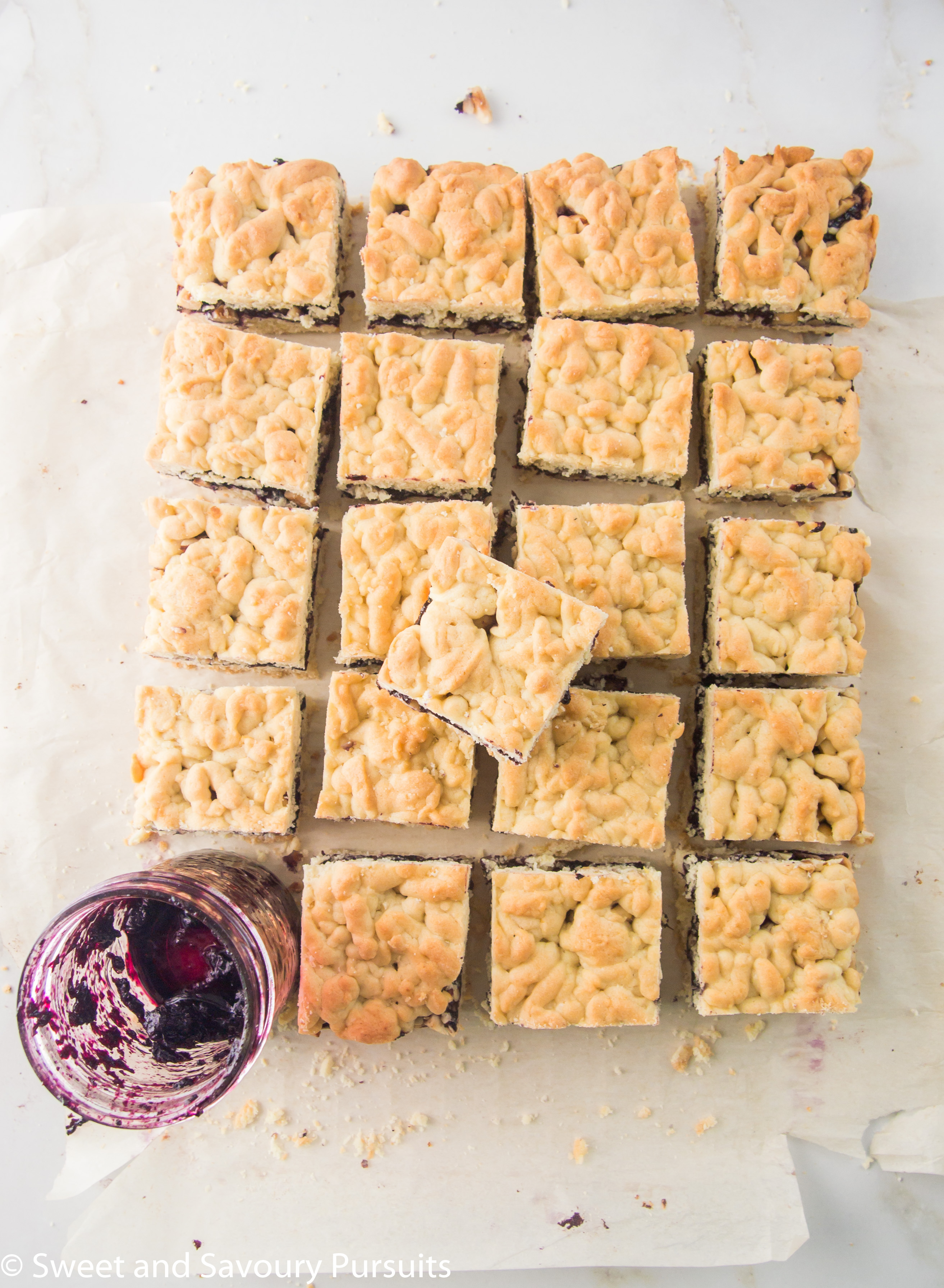 make Blueberry Jam and Hazelnut Bars are made with homemade blueberry ...