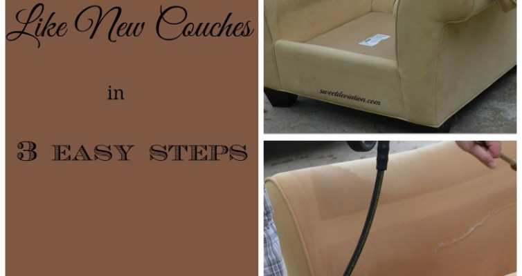 Like New Couches in 3 steps