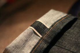 Red selvage stitching detail
