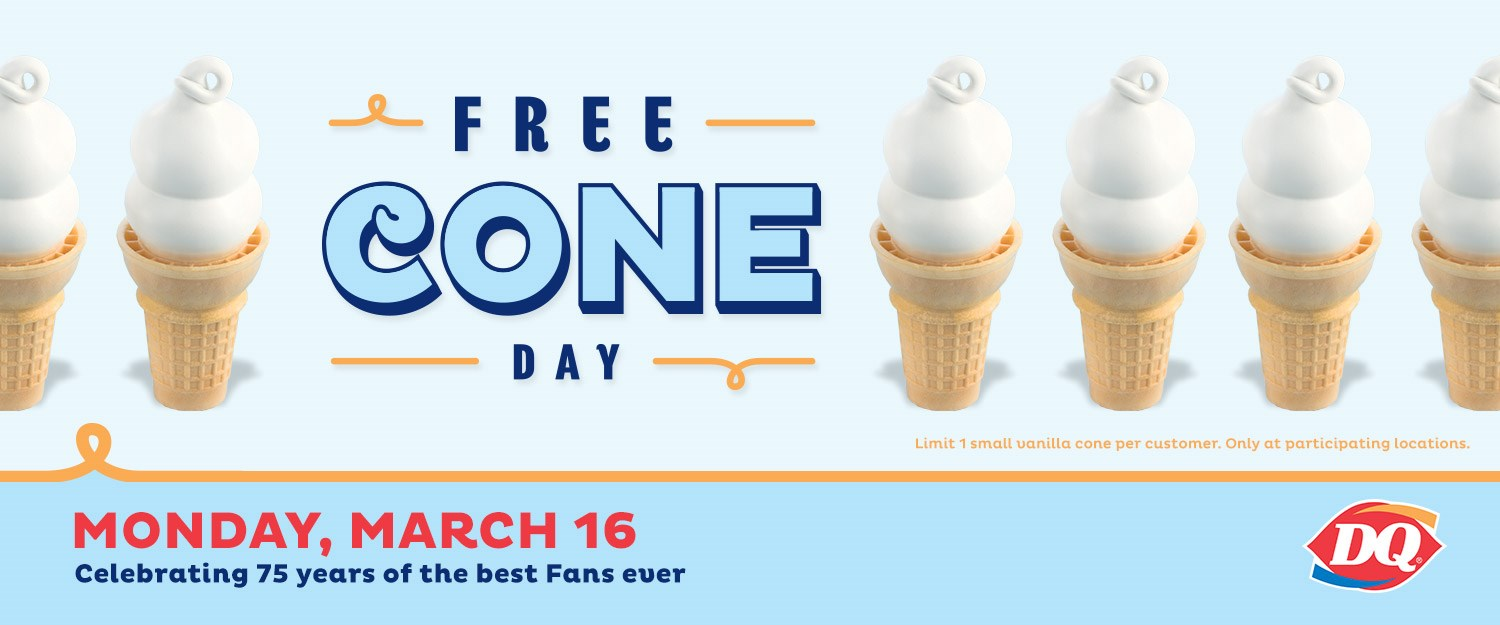 Fullsize Of Free Cone Day Dairy Queen 2017
