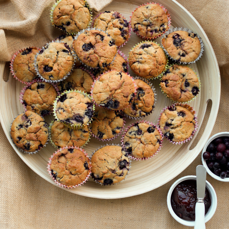 Egg Free Blueberry Muffins