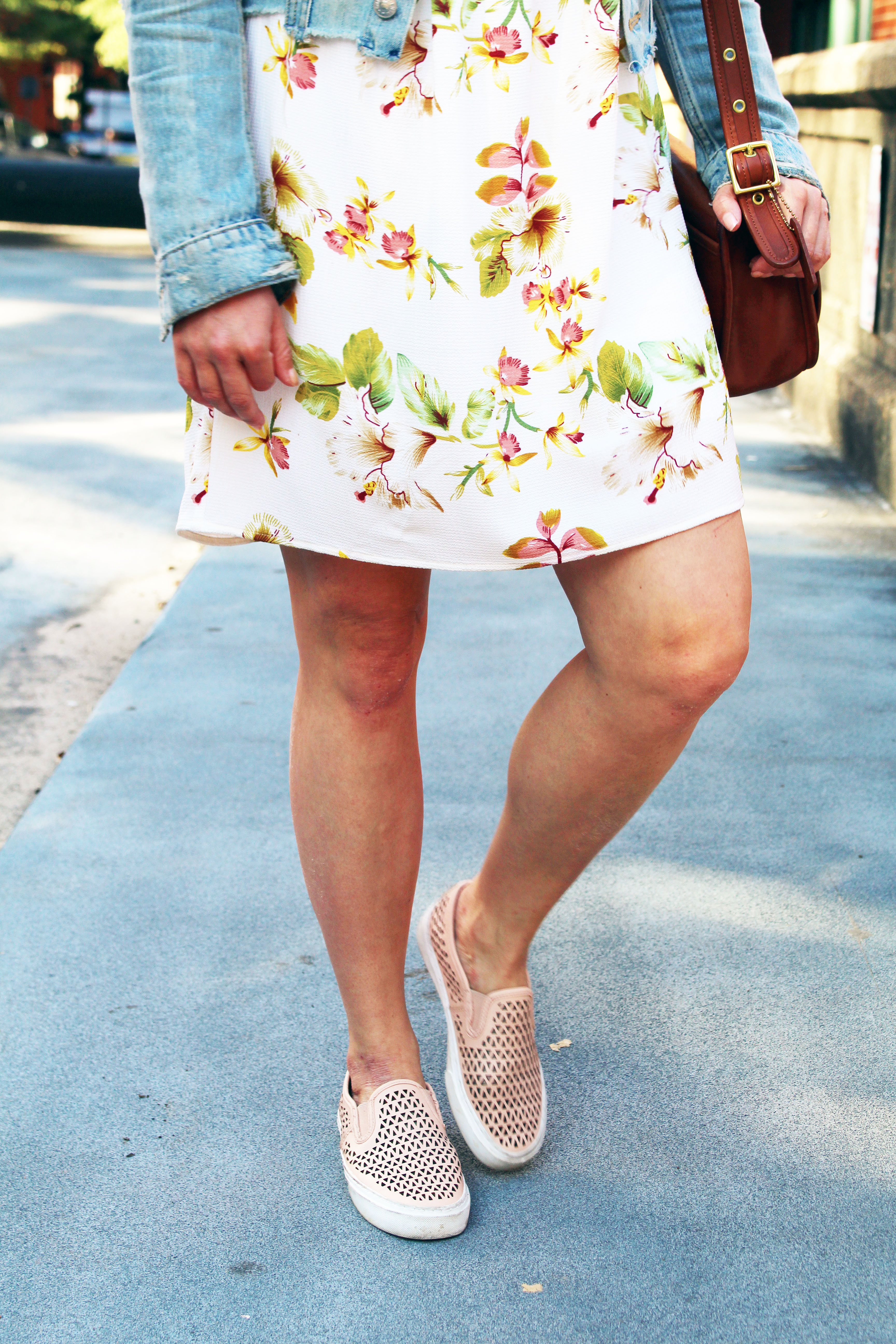 Four Ways To Style A Floral Dress This Fall And Stay Warm