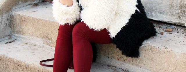faux fur statement coat