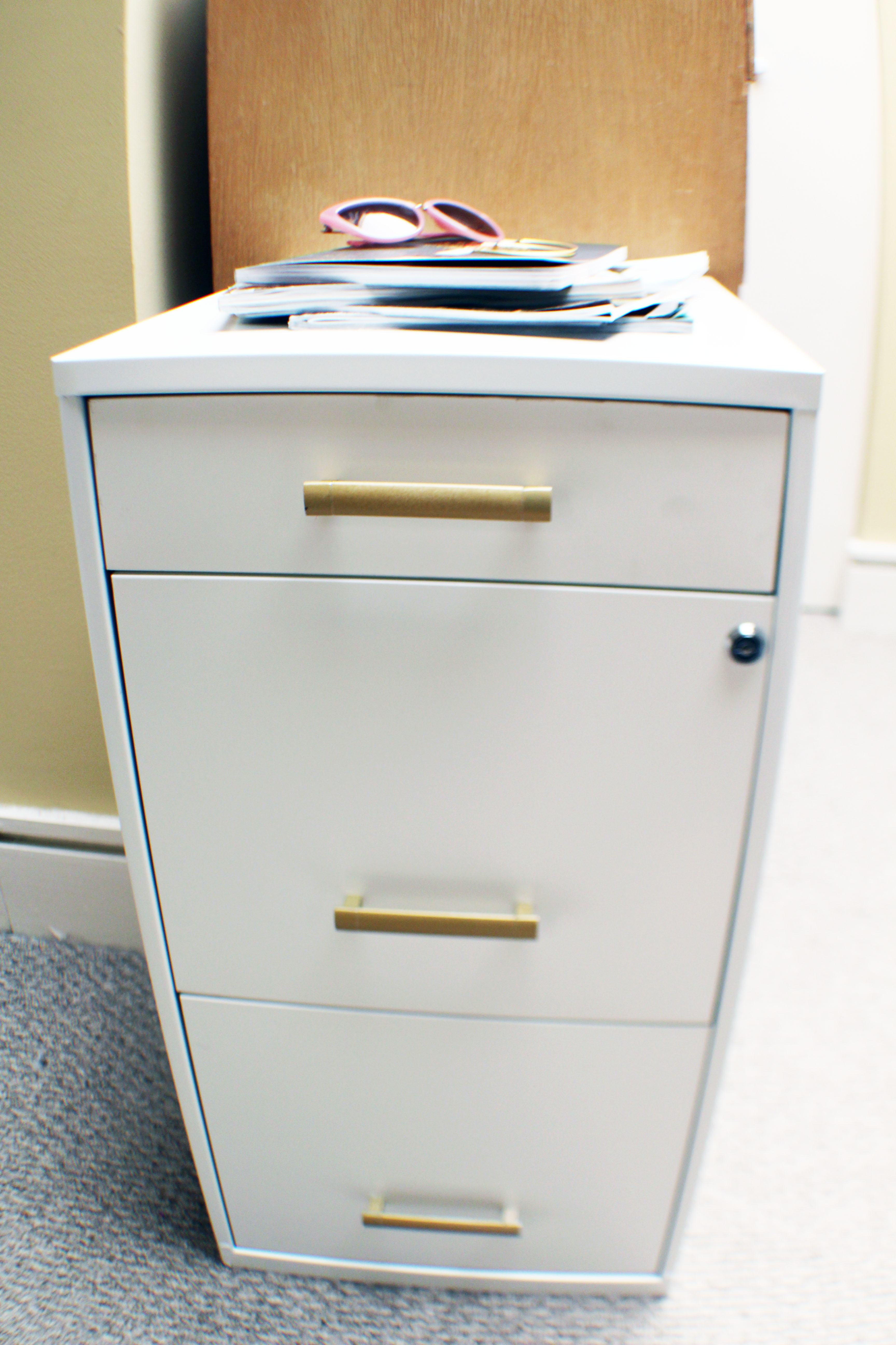 Cute Filing Cabinet Office Upgrade Getting Organized With Goodwill