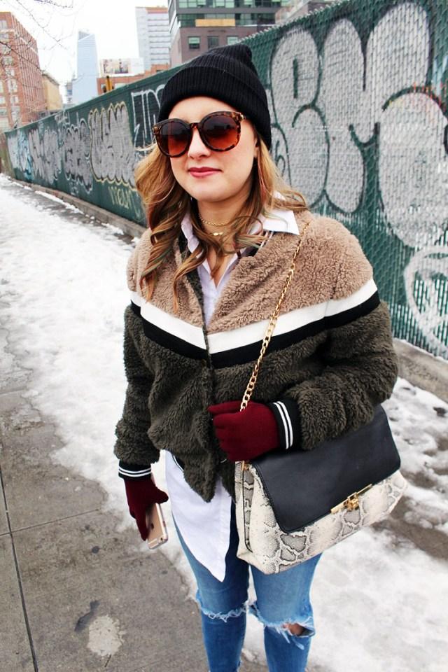 fuzzy bomber jacket pattern