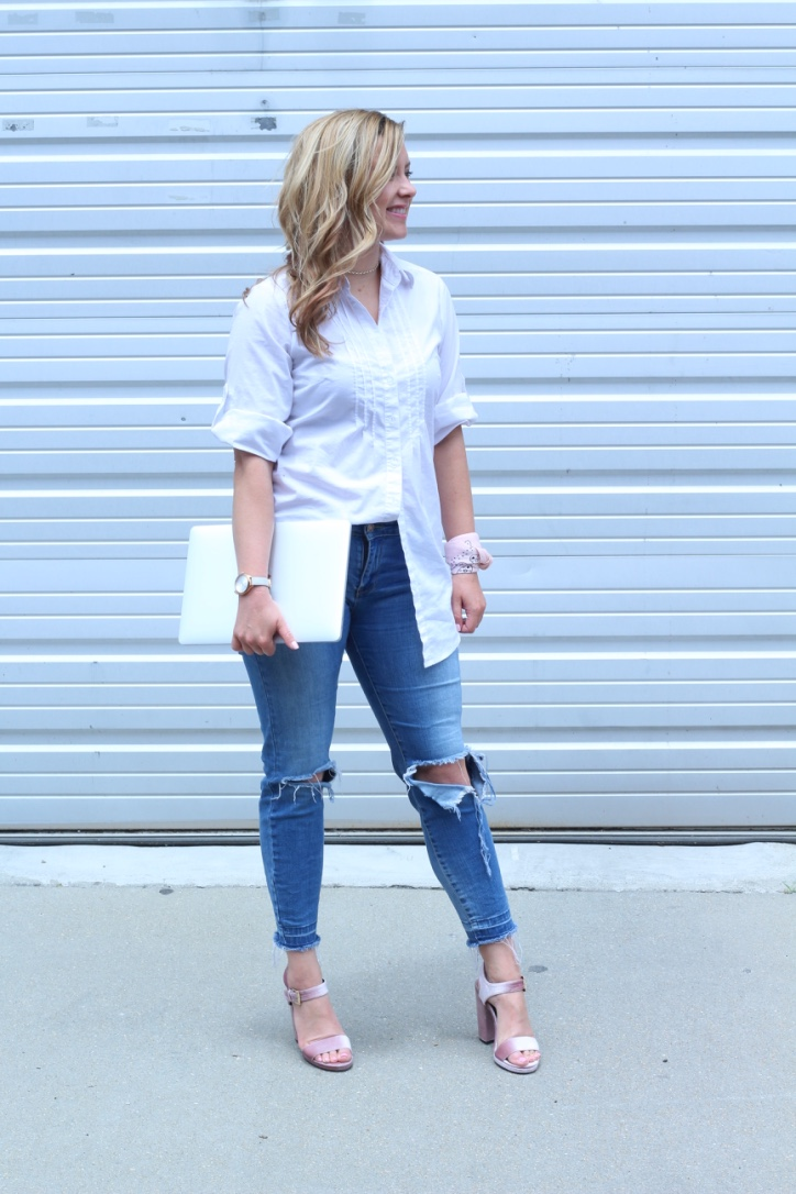 Update on Freelance Life + White Button Down Look