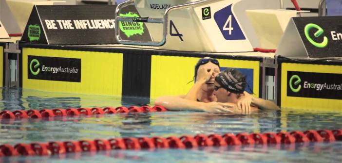 Winning sisters Cate and Bronte Campbell muzzle embarrassing dad