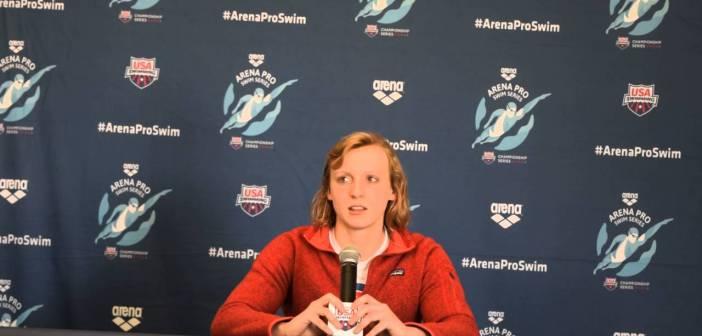 Katie Ledecky Press Conference at Arena Pro Swim Series at Mesa