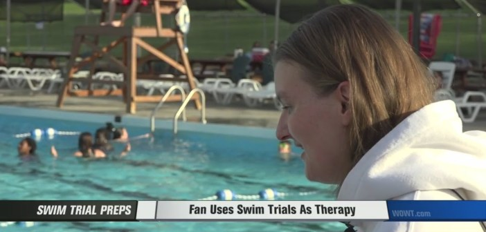 Fan Uses U.S. Olympic Swim Trials as Therapy