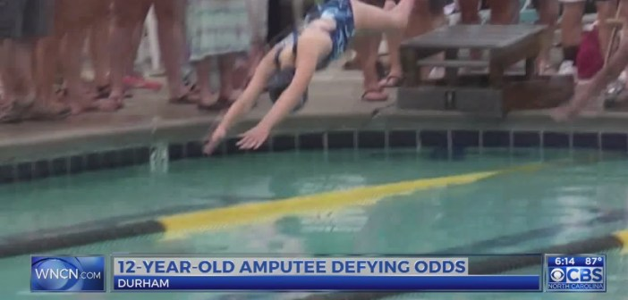 NC girl amputee who is a talented swimmer has message for others