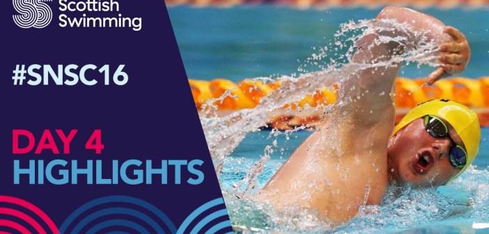Scottish National Swimming Championships 2016 – Day 4 Highlights
