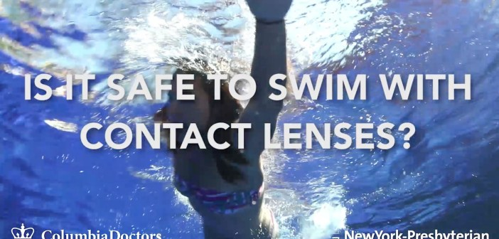 Is it safe to swim in your contacts?