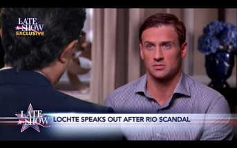 Late Show Exclusive: Ryan Lochte Comes Clean to Stephen Colbert