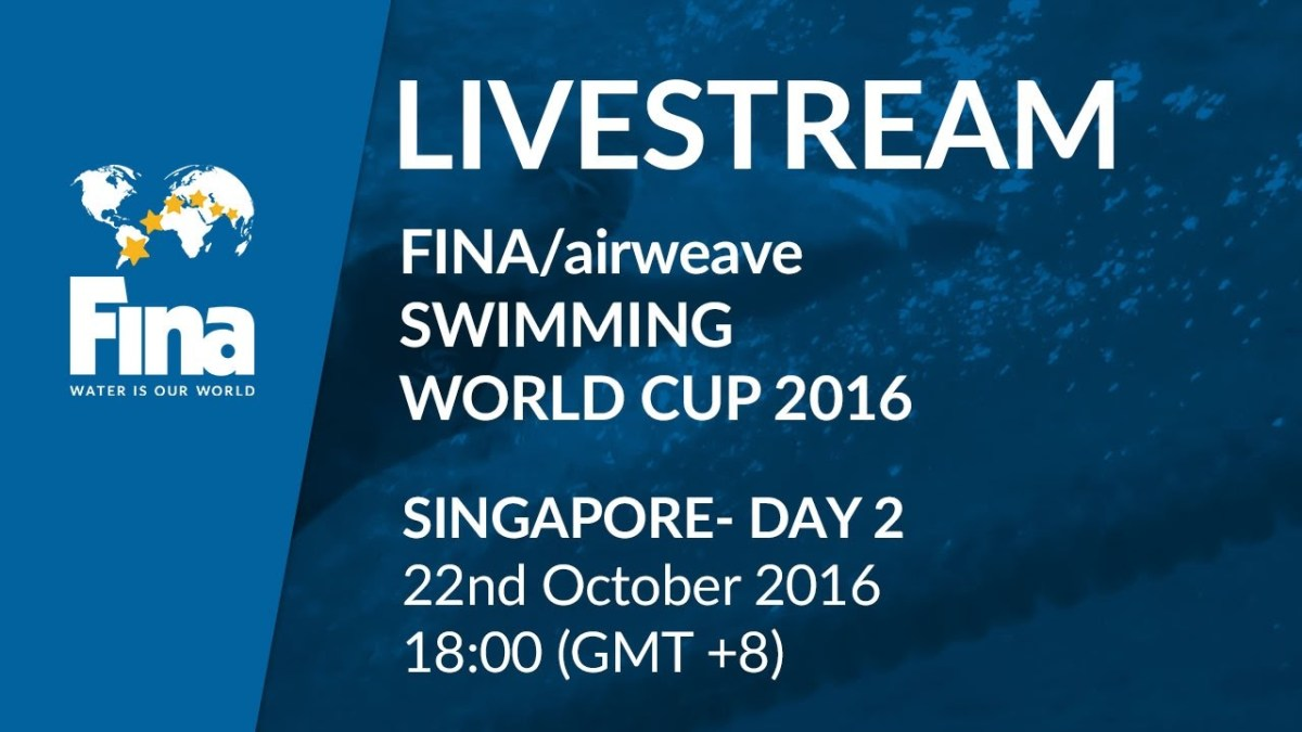 LIVE | Day 2 - FINA/airweave Swimming World Cup 2016 #7 Singapore