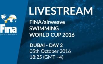 LIVE | Day 2 – FINA/airweave Swimming World Cup 2016 #5 Dubai