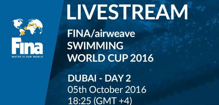 LIVE   Day 2 – FINA/airweave Swimming World Cup 2016 #5 Dubai