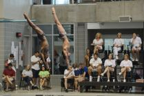 KNOXVILLE, TN - August 5, 2014: Synchro Thatcher/Windle during the 2014 USA Diving Age Group and Junior National Event at Allan Jones Aquatic Center in Knoxville, TN. Photo By Matthew S. DeMaria
