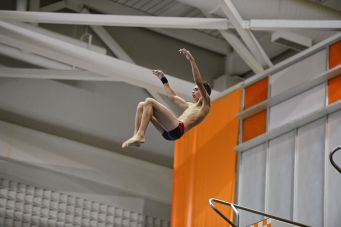 KNOXVILLE, TN - July 31, 2014: Jacob Cornish during the 2014 USA Diving Age Group and Junior National Event at Allan Jones Aquatic Center in Knoxville, TN. Photo By Matthew S. DeMaria