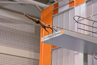KNOXVILLE, TN - July 31, 2014: Todd Alden dives of the Platforms during the 2014 USA Diving Age Group and Junior National Event at Allan Jones Aquatic Center in Knoxville, TN. Photo By Matthew S. DeMaria