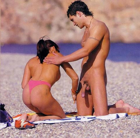 femdom with erection nude beach