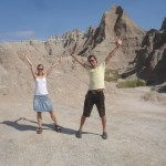 "Badlands National Park, South Dakota. Et sted det visstnok er ""What a hell of a place to loose a cow""."