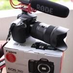 Canon 70D med Røde mic