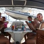 Mari og Lars kom trillende ombord i Alicante :)