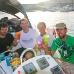 Ankerdram 5 min etter vi klappet til kai på Puerto Santo!