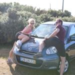 Bilen vi aldri har kjørt maken til! Tenk å ikke klare å klatre en bakke i første gir! DA er det bratt da! (Sexytime på panstret)
