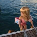 10 min etter at Maren var ombord var alt klart for første bad :)