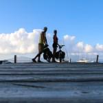 Reodor og Solan er fornøyd med dagens sykkeltur