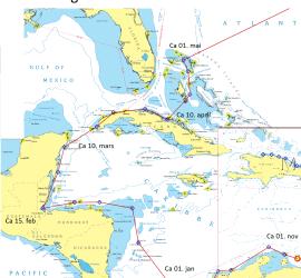 Rute 2014 2015 Mellomamerika