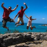 Fortet i Marigot - Jump around!