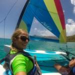 Sammen med Nomad leide vi mini-seilbåt