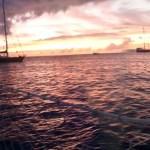 Obligatorisk solnedgangsbilde fra Admirality Bay