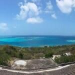 Kirkeutsikten fra Mayreau mot Tobago Cays