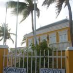 En minoritet av befolkningen på Bonaire var litt sinte.