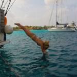 Siste bad på Bonaire for stupedama.