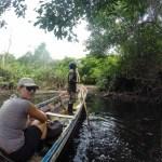 Inn gjennom mangrovene bar det, til en godt gjemt sti som ledet inn til plantasjene til indianerene