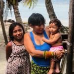 En av familiene som bodde på Cambombia