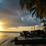 Solnedgang over indianerbosetningen
