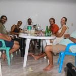 Gjengen samla på middag hos Arelis og Orvel.
