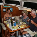 Hyggelig middag med Neil og Peggy fra Night Sky.