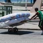 Helt normal madrass-transport.