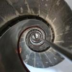 Trappene opp til fyrtårnet på Capelinhos