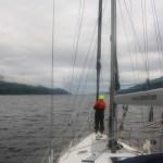 Førsteoffiser opptatt - speider etter Nessie på Loch Ness