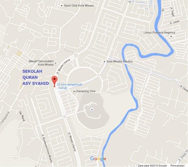 Peta lokasi Sekolah Quran Asy Syahid