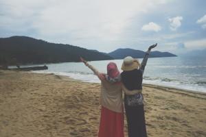 With Nurul Syasya Goh at Batu Ferringhi, Pulau Pinang