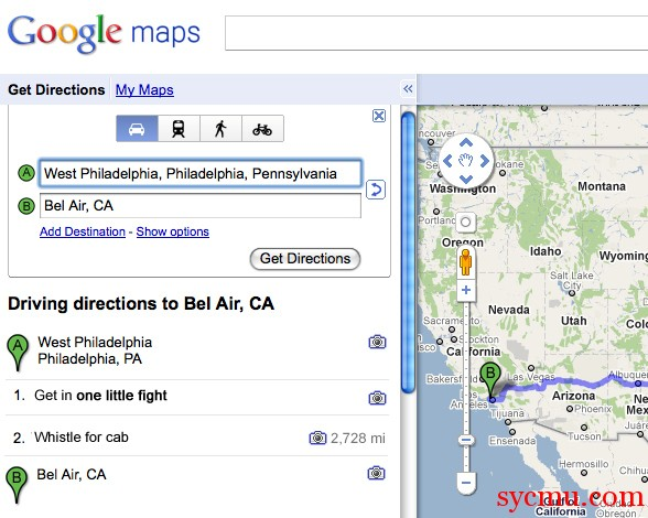 Fresh Prince of Bel Air google maps